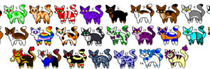 5 point cat adoptables (17/27 open) by Sweetnfluffy-adopts