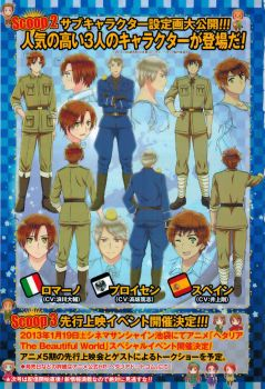 Romano, Spain, and Prussia's new designs by goodlucklight