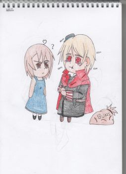 Roleplay Drawing : Paula and Romania by SwiftNinja91