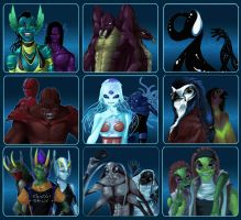 Alien Races by DreamingRed