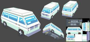 Low poly Van by Leyto