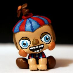 Balloon Boy (BB) from FNAF2 inspired LPS custom by pia-chu