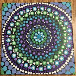 Dot Painting for Bathroom by mintdawn