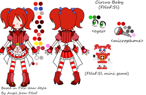 Circus Baby mini reference(FNaF:Sl) by Angel-from-FNaF