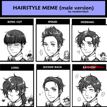 Hairstyle Meme - Male Version [Spain] by hime1999