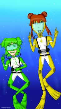 Angel Divers part 2:  Ayumi And Chie by bogidream