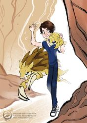 You and Your Pokemon - Sandshrew and Sandslash by mmishee