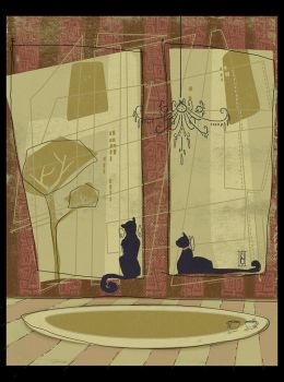 me,cats and the city by liddaden