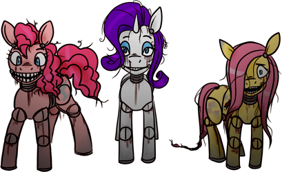 Five Nights at... PInkie's (no background) by TwitchyGreyFox