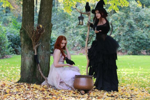 Stock - Two witches 4 by S-T-A-R-gazer