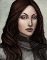 Portrait of a Knight by Saeyre