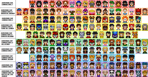 The Entire SFC Cast by Kirby-Kid