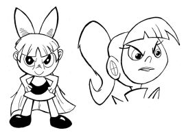 Blossom and Atomic Betty (INKED) by Big-Al-Son86
