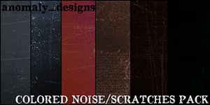 Large Colored Noise-Sratches by britsnpieces