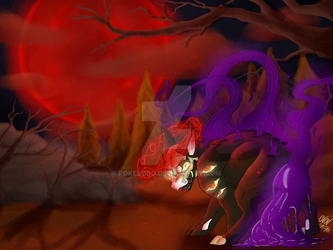 Commission~ Night Of The Bloodmoon by Pokelobo