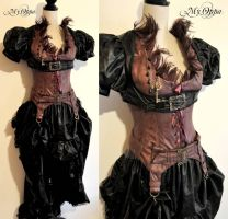 Burlesque feathers Steampunk by myoppa-creation
