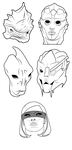 Mass Effect Illustrated Heads by Thomas765