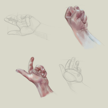 How to Paint Hands in Krita by MarTs-Art