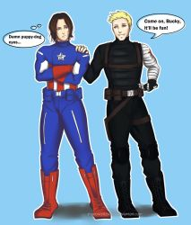 Steve/Bucky: Costume Switch Up by ShadowsIllusionist