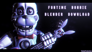 Funtime Bonnie Download - [FNaF SL Blender] by ChuizaProductions
