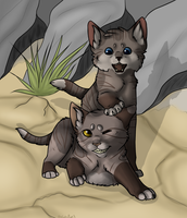 Frozenkit and Graykit by TheCatsPupil