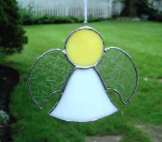 Stained Glass Angel Suncatcher by bigblued