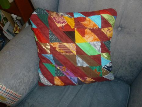Scrap quilted pillow by BellaGBear