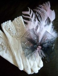 Pink Romance fascinator by fairyfrog