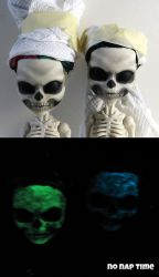 Glow in the Dark Skelitas by periwinkleimp
