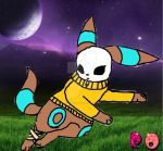 Maskyeon the shiny umbreon by reaperdeathlove