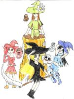 Colored Witches by HanaCrazy
