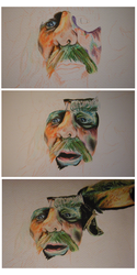 Radagast Portrait - WIP by CurlyWurly808