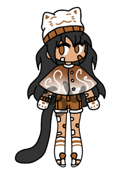 {CLOSED!/CHEAP AUCTION} - Coffee Cat Girl by CheapClothesAdopts