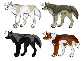 Wolf Adopts 2 (CLOSED) by Sparaze-Adopts