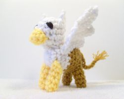 Crochet Gryphon by BritneyPringle