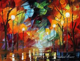 Crazy Mood by LEonid Afremov by Leonidafremov