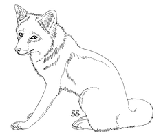 Free Red Fox Lineart by galianogangster