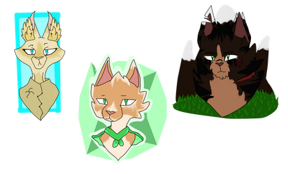 Adoptable Cats ~ Open (3/3) Set price ~ non base by Wolfmylove04