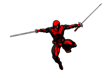Deadpool sketch inked by JarOfComics Colored by matt2106