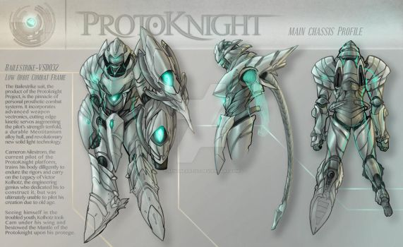 Concept - Protoknight, Suit Profile by AenTheArtist