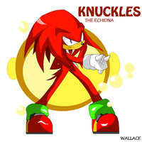 KNUCKLES the echidna by wallacexteam