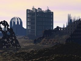 3D Background: Abandoned City by Sheona-Stock