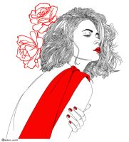 RED: Lady in red by Dianaoneinamillion