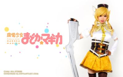 Mami Tomoe Cosplay Wallpaper by ConJurer-CJ