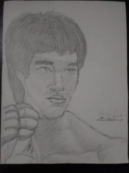 Bruce Lee by swahiligiant