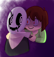 Chara And Gaster by NinjaGirlKikio