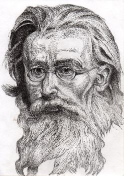 Stippling / Pointilism Old man by Natrizald