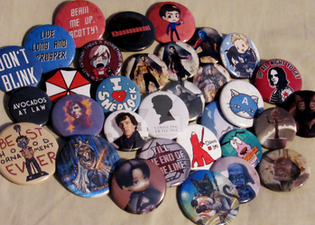 Button Collection by Venoms-Lil-Nibble