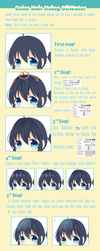 How to color hair using OilWater in Paint Tool SAI by KiranKira