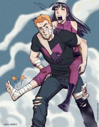 Hawkguy and Kate by MikeDimayuga